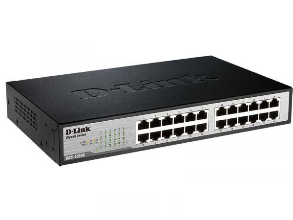 NEW D-LINK DGS-1024C Switch 24 LAN Port 10//100//1000 Gigabit Ethernet Unmanaged